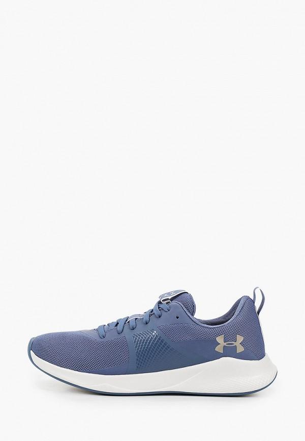 женские низкие кроссовки under armour, синие