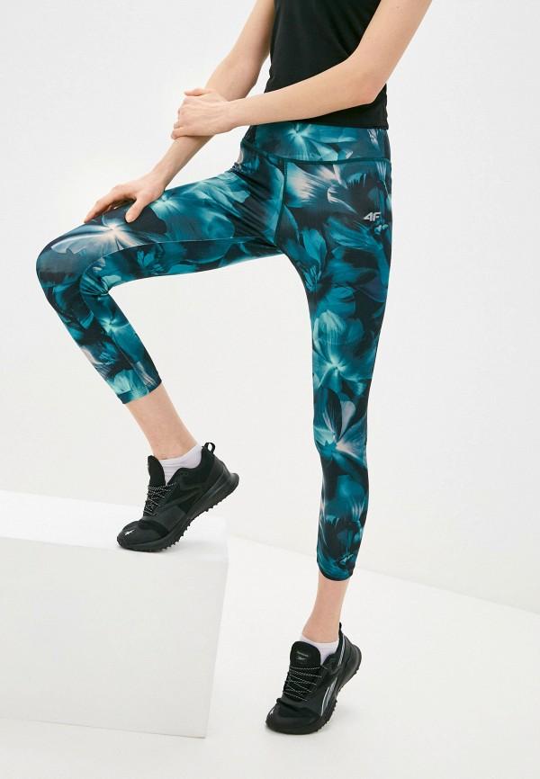 женские спортивные леггинсы 4f, зеленые