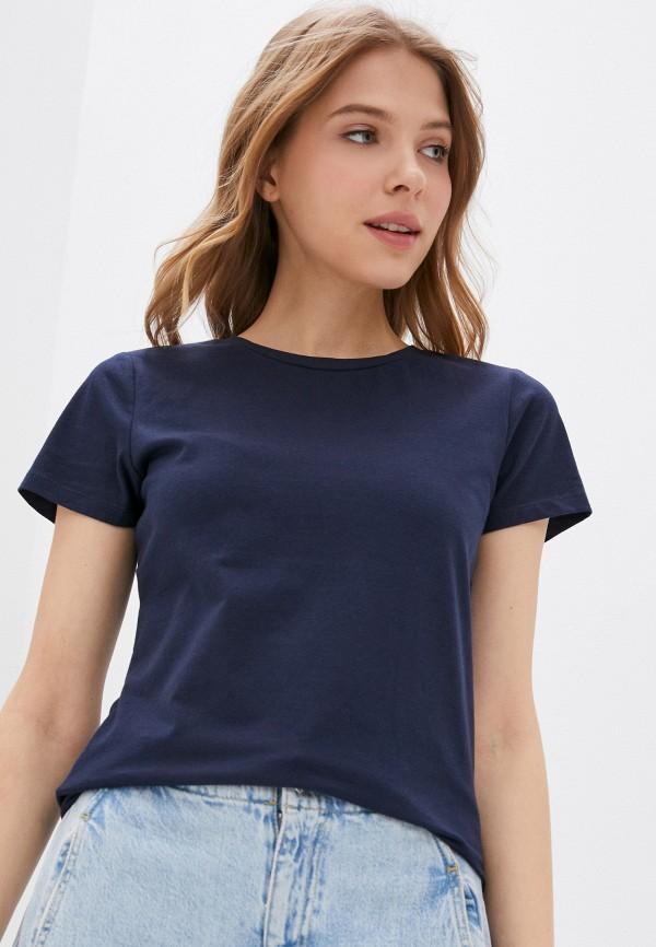 женская спортивные футболка outhorn, синяя