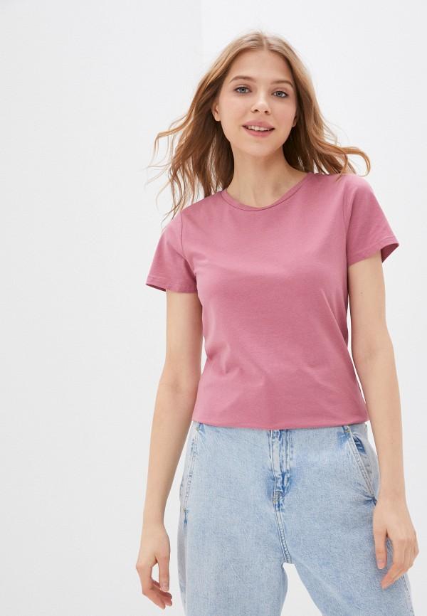 женская спортивные футболка outhorn, розовая
