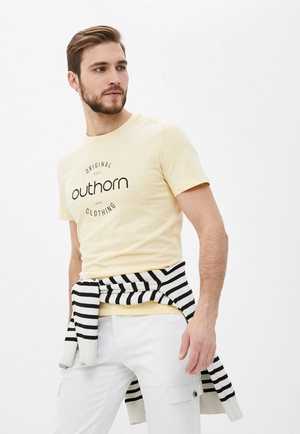мужская спортивные футболка outhorn, желтая
