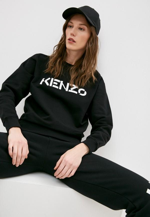 женский свитшот kenzo, черный