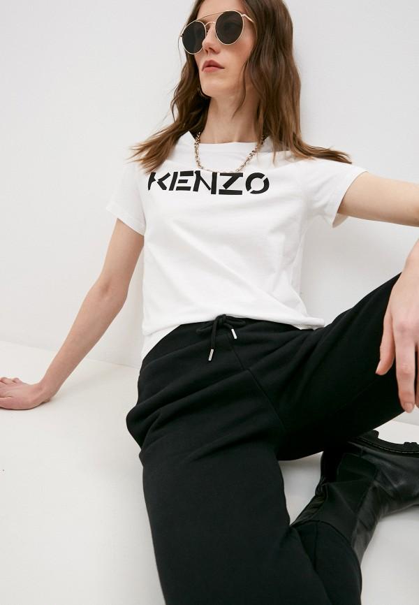 женская футболка kenzo, белая