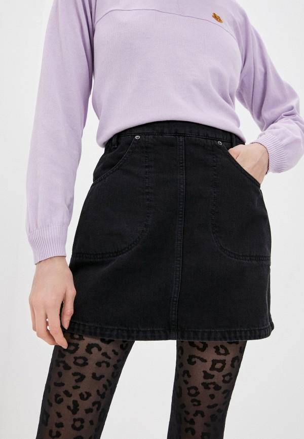 женская джинсовые юбка kenzo, черная
