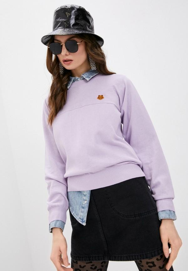 женский джемпер kenzo, фиолетовый