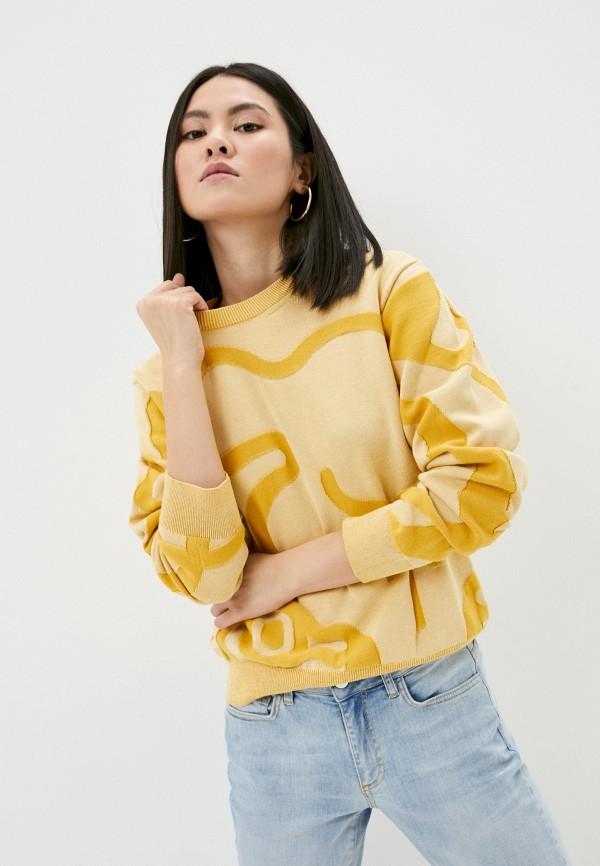 женский джемпер kenzo, желтый