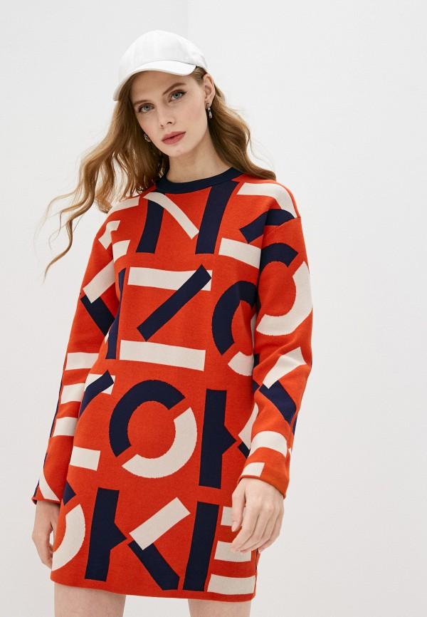 женское платье kenzo, красное