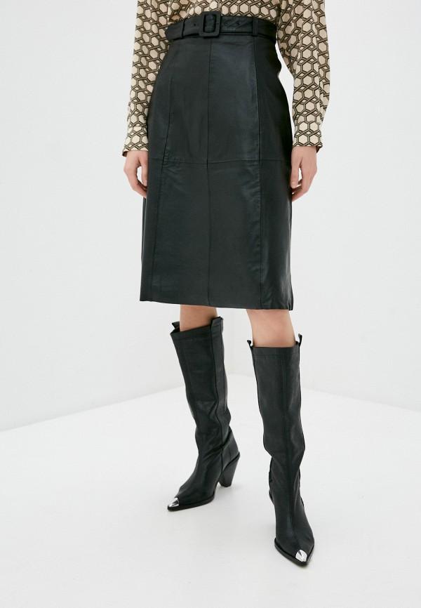 женская юбка selected femme, черная