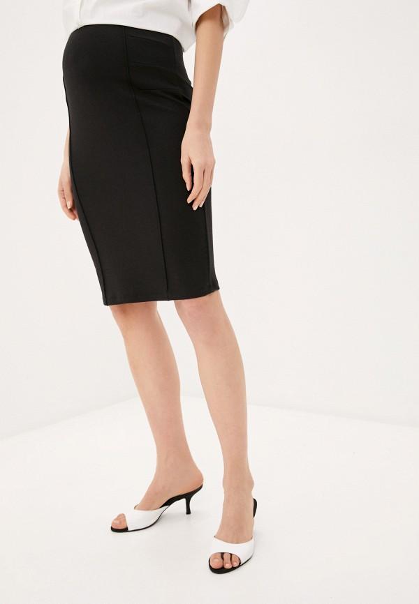 женская юбка mamalicious, черная