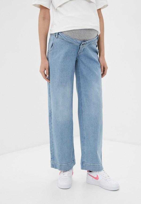 женские джинсы клеш mamalicious, голубые
