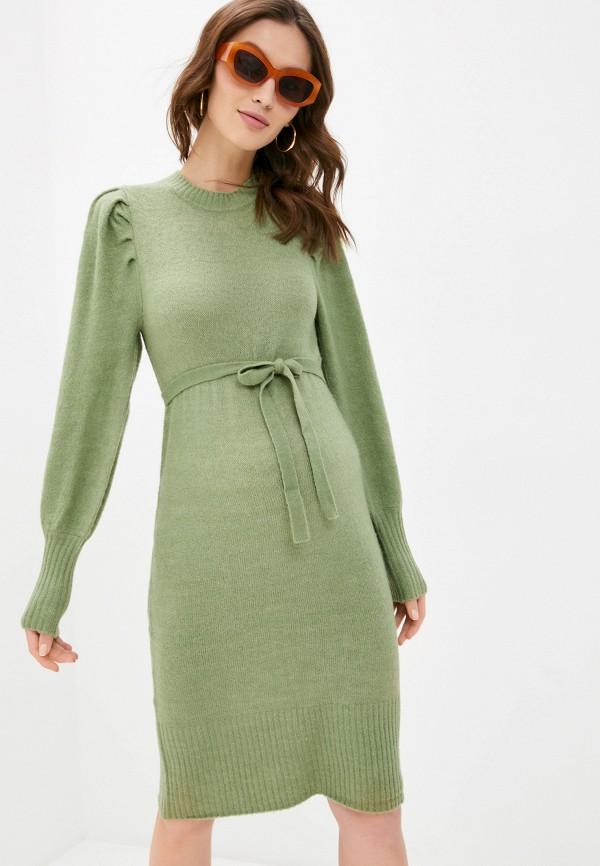женское платье mamalicious, зеленое