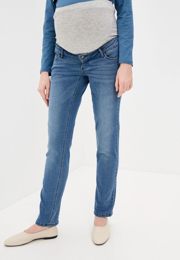 женские джинсы скинни mamalicious, синие