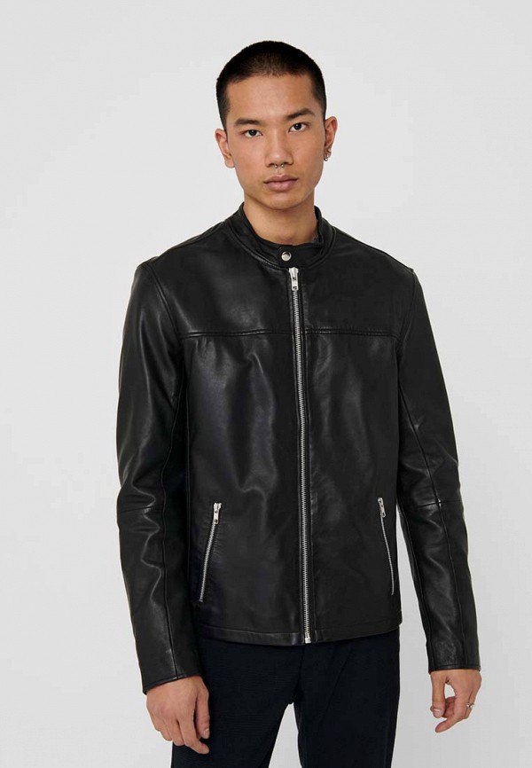 мужская куртка only & sons, черная
