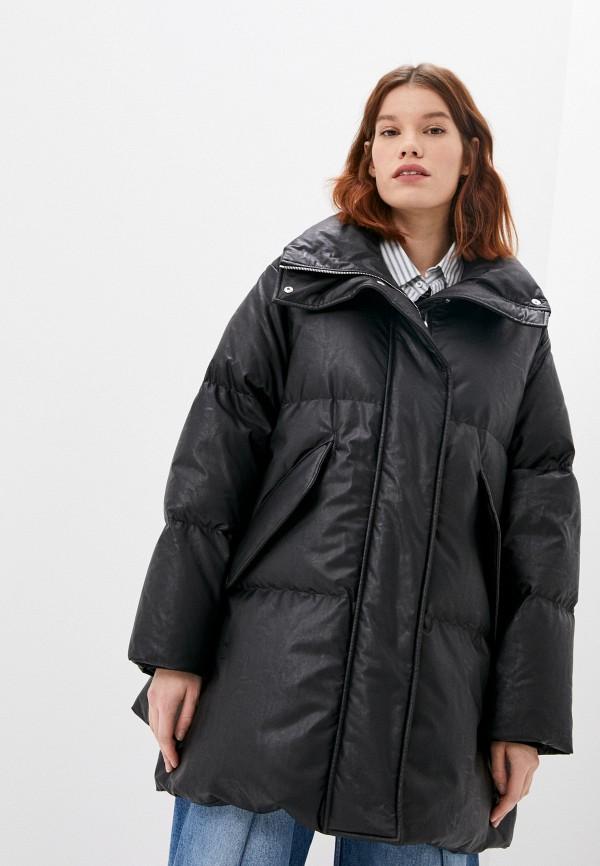 женская куртка mm6 maison margiela, черная