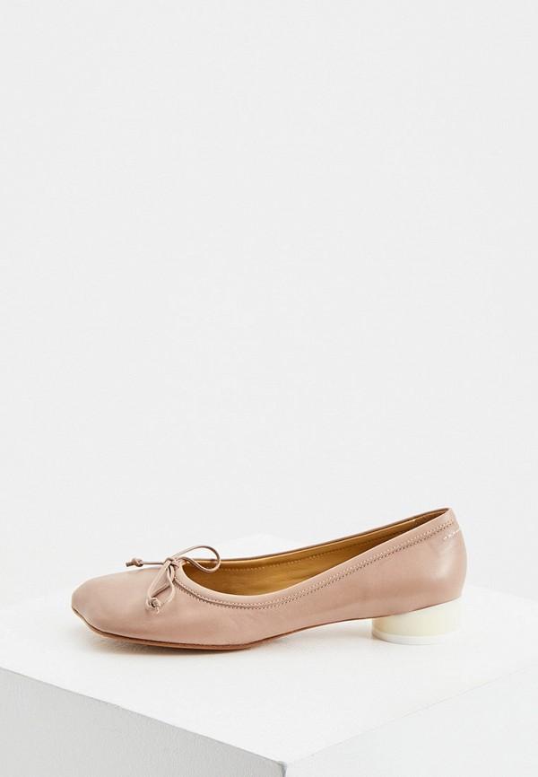 женские туфли mm6 maison margiela, бежевые