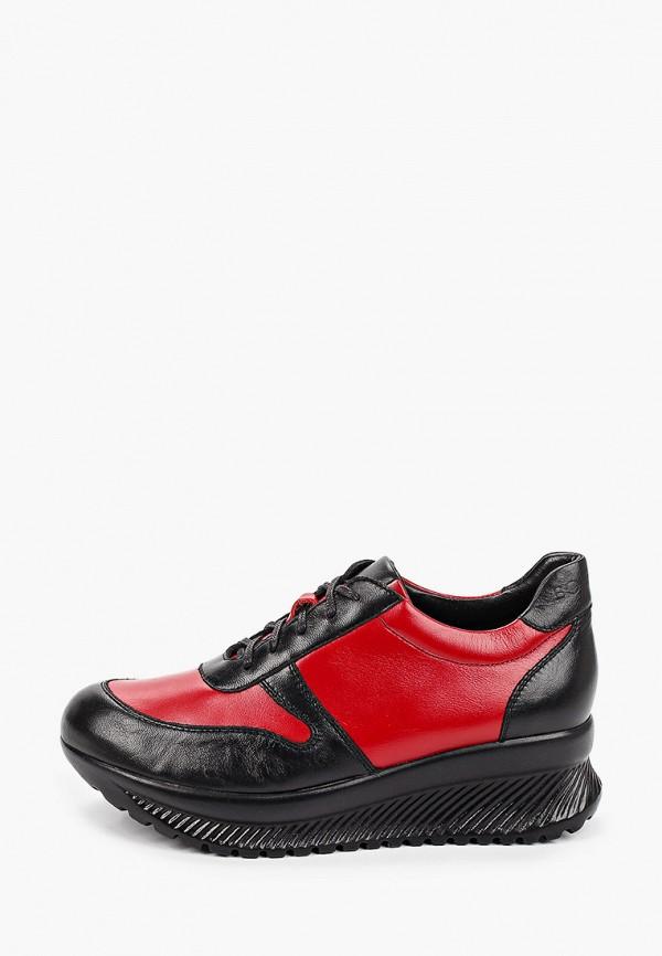 женские низкие кроссовки bosccolo, красные