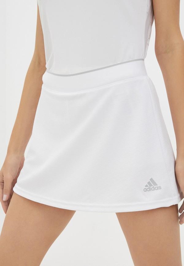 Юбка-шорты adidas белого цвета