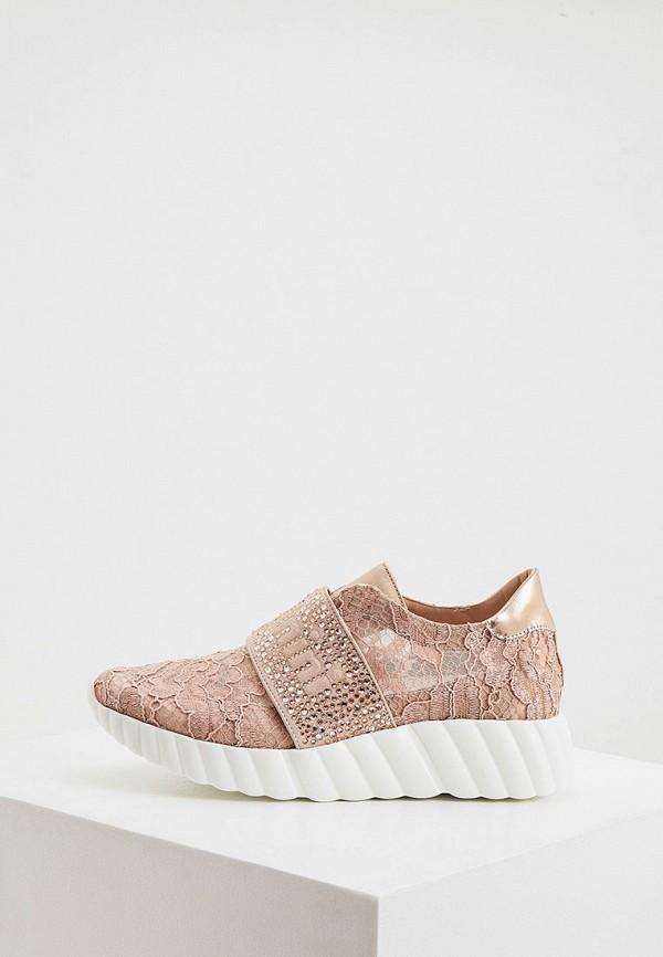 женские низкие кроссовки baldinini, розовые