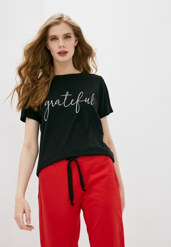 женская футболка juvia, черная