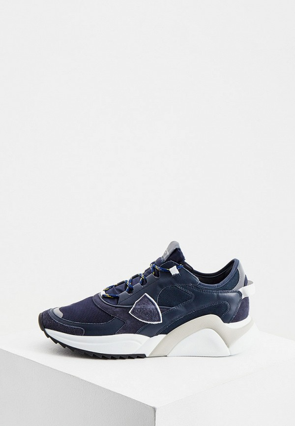 мужские кроссовки philippe model paris, синие