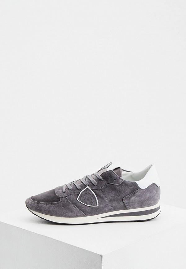мужские кроссовки philippe model paris, серые