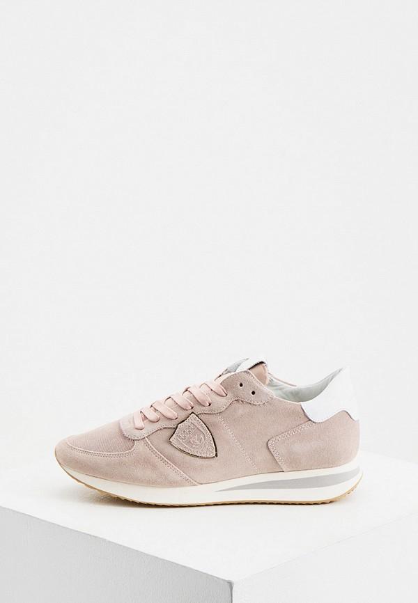 женские кроссовки philippe model paris, розовые