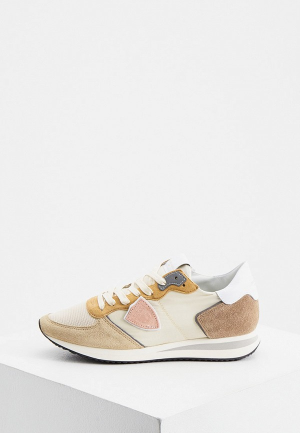 женские кроссовки philippe model paris, бежевые