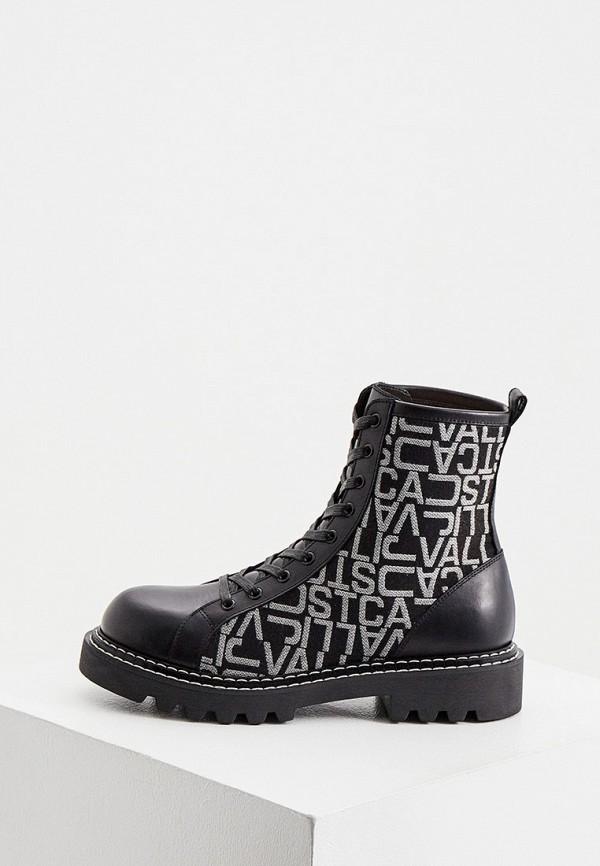 женские ботинки just cavalli, черные