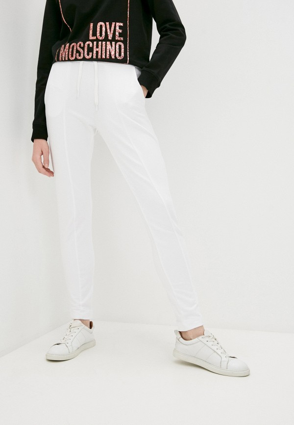 женские спортивные брюки love moschino, белые
