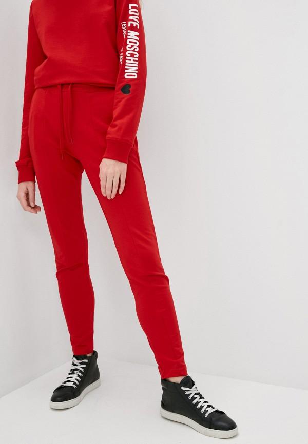 женские спортивные брюки love moschino, красные