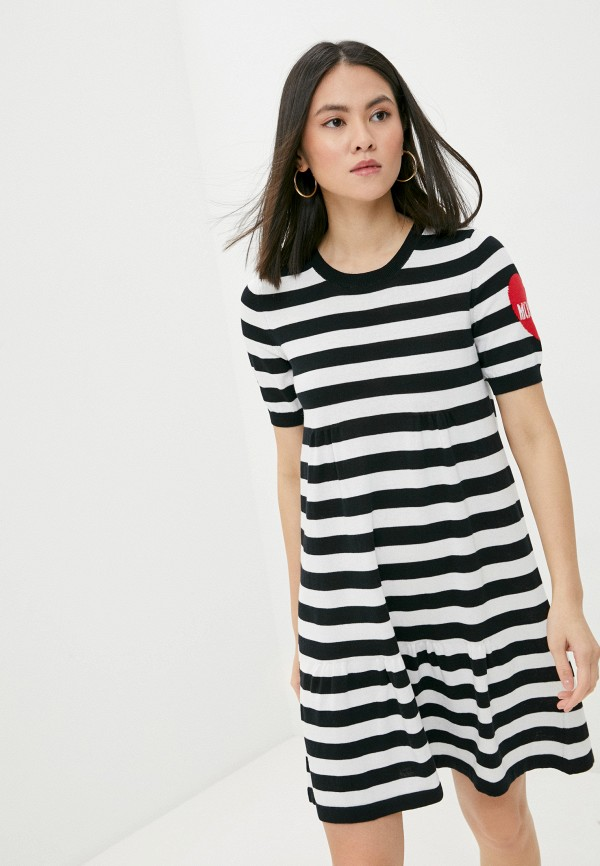 женское повседневные платье love moschino, разноцветное