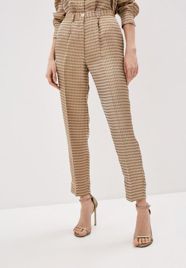 женские повседневные брюки forte forte, бежевые