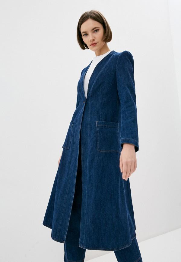 женское пальто forte forte, синее