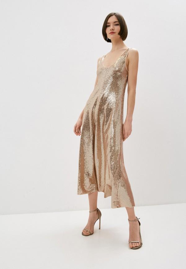 женское вечерние платье forte forte, золотое