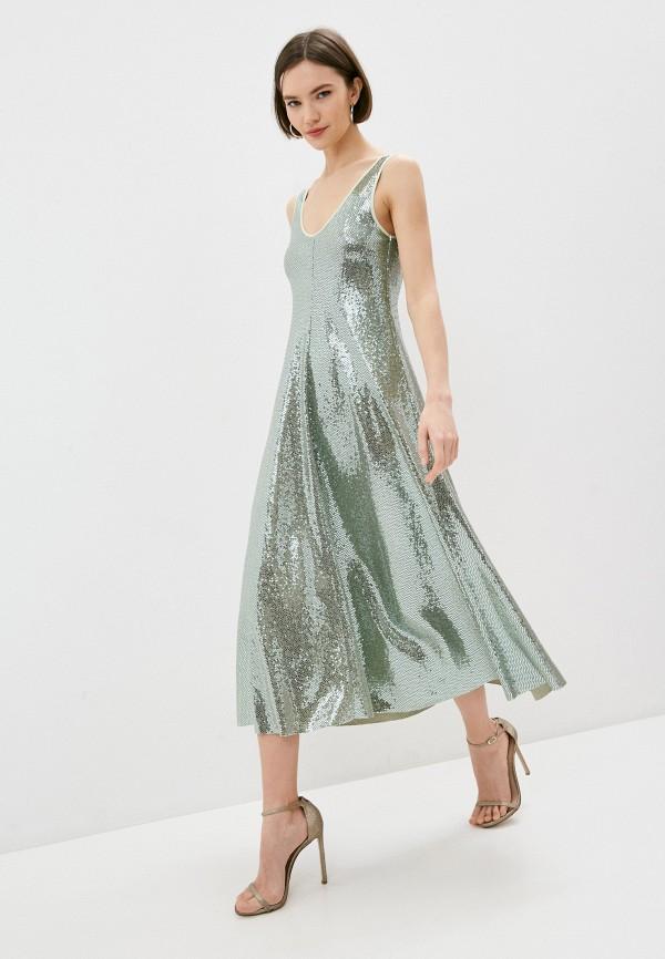 женское вечерние платье forte forte, зеленое