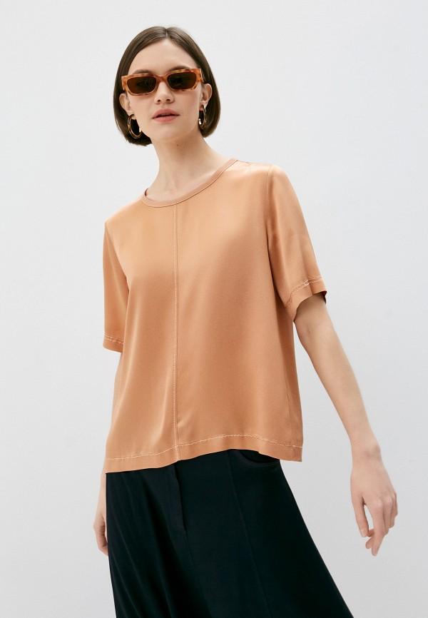 женская блузка forte forte, коричневая