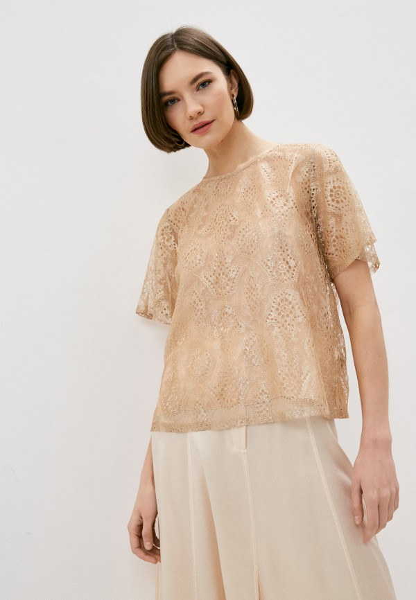 женская блузка forte forte, золотая