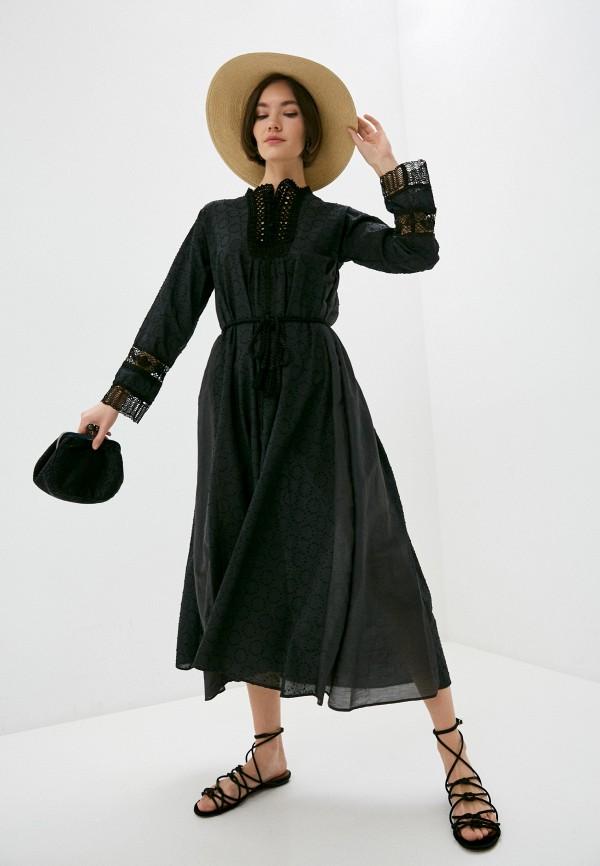 женское повседневные платье forte forte, черное