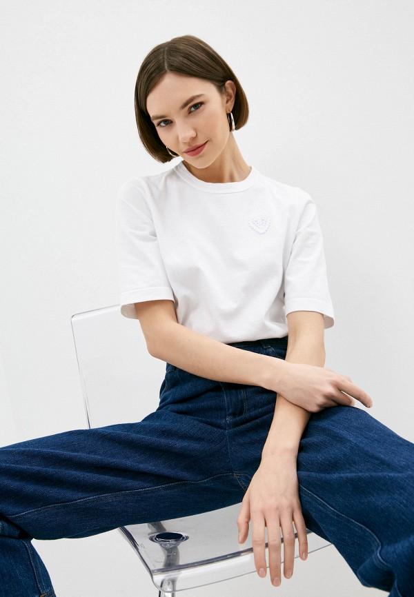 женская футболка forte forte, белая