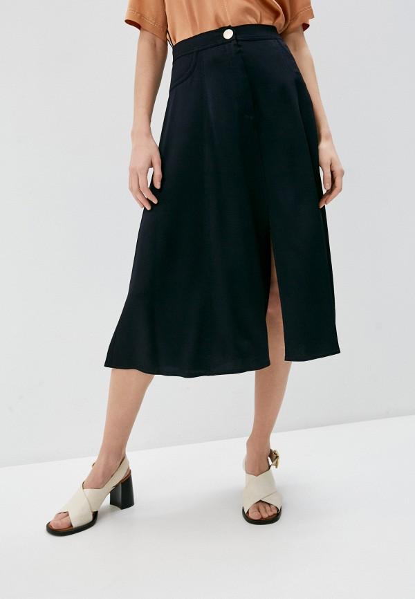 женская юбка forte forte, синяя