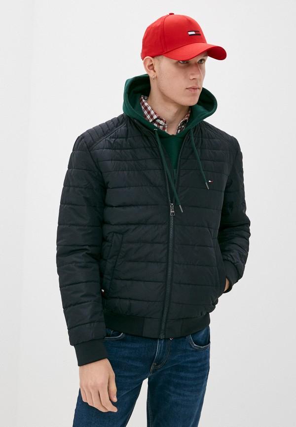 мужская утепленные куртка tommy hilfiger, синяя