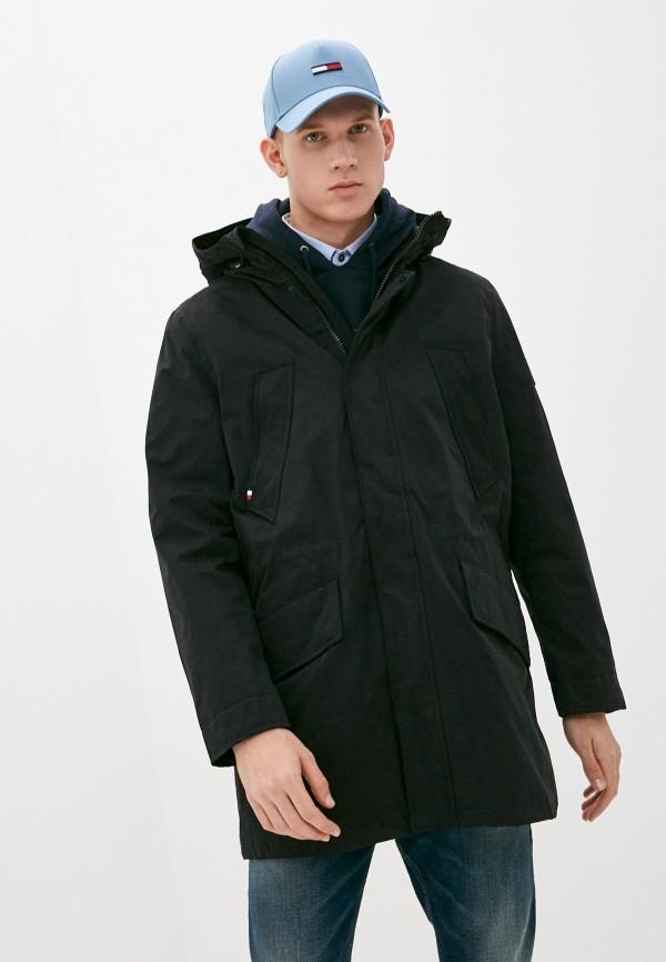 мужская легкие куртка tommy hilfiger, черная
