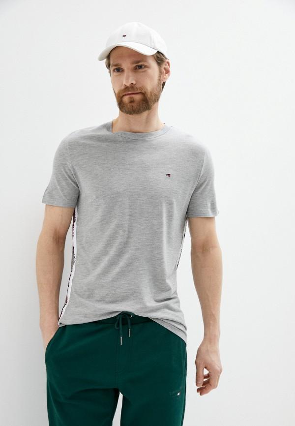 мужская футболка tommy hilfiger, серая
