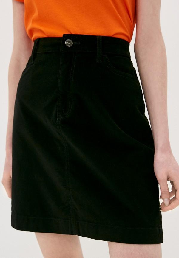 женская прямые юбка tommy hilfiger, черная