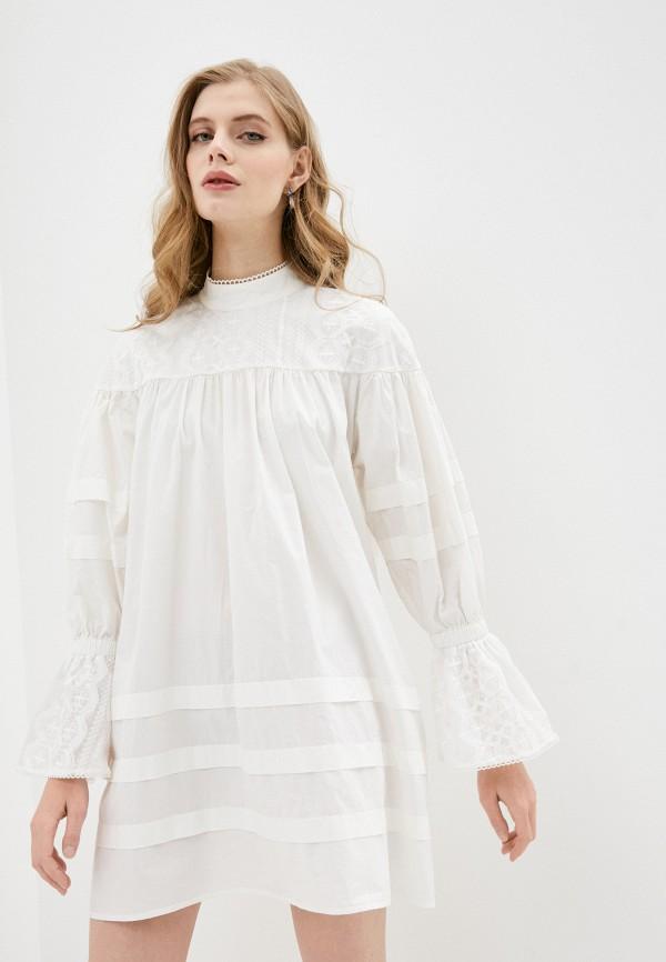 женское повседневные платье one teaspoon, белое