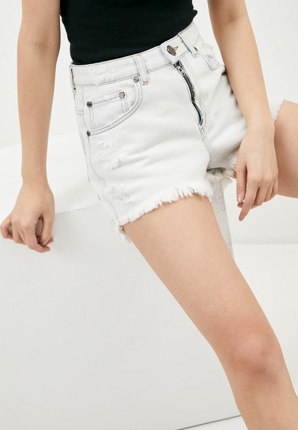 женские джинсовые шорты one teaspoon, белые