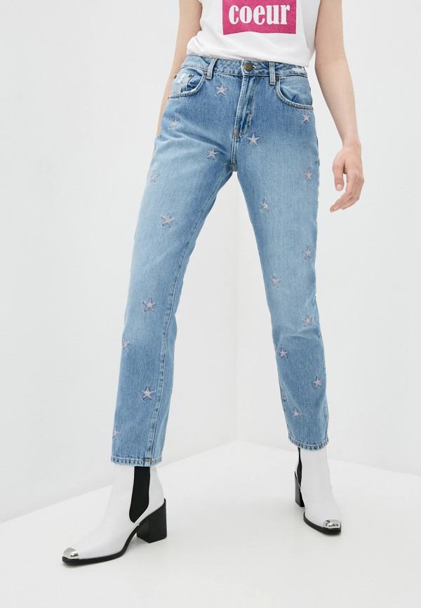 женские прямые джинсы one teaspoon, голубые