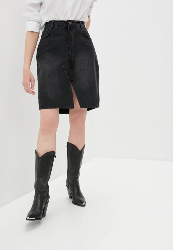 женская джинсовые юбка one teaspoon, черная