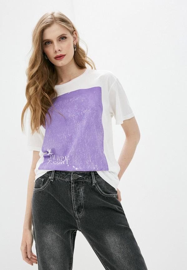 женская футболка one teaspoon, белая