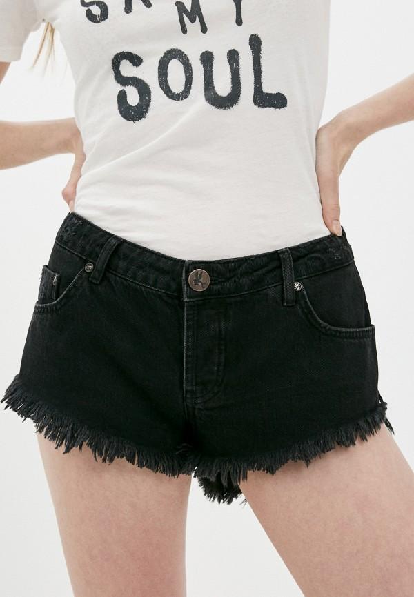 женские джинсовые шорты one teaspoon, черные